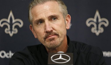 Saints coach Steve Spagnuolo talks about the Saints performance against the Dallas Cowboys during a press conference at Saints Camp, Monday, December 24, 2012. (Photo by Ted Jackson, Nola.com / The Times-Picayune)
