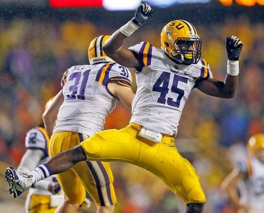 LSU linebacker and Jesuit graduate Deion Jones (45) hasn't carved a full-time niche in his first two years, but he is pushing for playing time as the 2014 season gets closer.