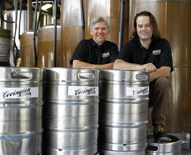 David Arbo, left, a former science and physics teacher at St. Scholastica Academy, is part of a group that purchased the Covington Brewhouse recently. Brain Broussard, right, is master brewer and part of the ownership group. (David Grunfeld, NOLA.com | The Times-Picayune)
