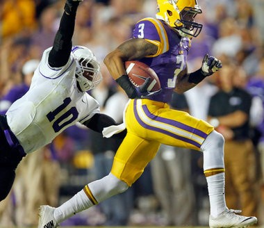 LSU wide receiver Odell Beckham Jr. (3) is a likely second day pick if the junior decides to pass on his senior season and enter the 2014 NFL draft.