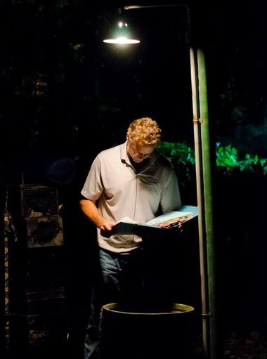 Writer-director-actor John Schneider prepares for the next shot on the set of his horror film 'Smothered' in Holden, La., shot at the recently opened John Schneider Studios. (Fairlight Films)