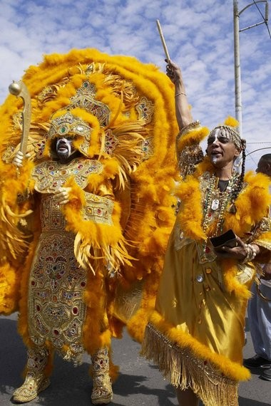 An image from the documentary 'We Won't Bow Down,' directed by Christopher Levoy Bower and documenting New Orleans' Mardi Gras Indian culture. (Make It Happen Entertainment)