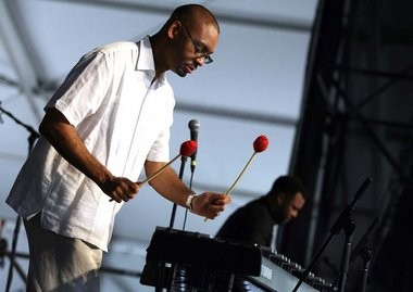 Jason Marsalis and Woodshed Vibes perform at the 2014 New Orleans Jazz Festival, Friday, May 2, 2014.