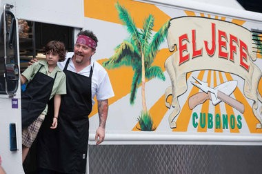 Writer-director Jon Favreau and Emjay Anthony star in the dramatic comedy 'Chef,' shot partly in New Orleans. (Merrick Morton / Open Road Films)