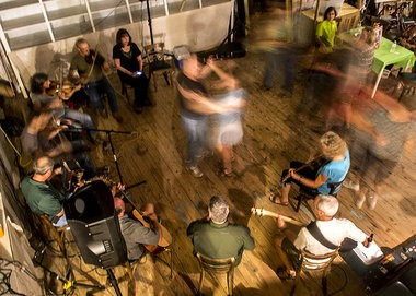 Guests twirl around and two-step to live Cajun music during a monthly community potluck held at NuNu Arts and Culture Collective in Arnaudville on Friday, August 15, 2014. (Photo by Brianna Paciorka, NOLA.com | The Times-Picayune)