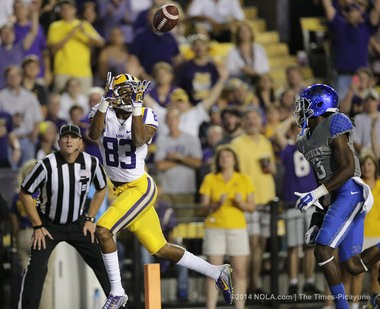 LSU receiver Travin Dural is the leader of the talented Tigers' receiving corps.