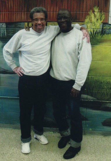 Albert Woodfox, left, is pictured with the late Herman Wallace, right. (Courtesy of Jackie Sumell)