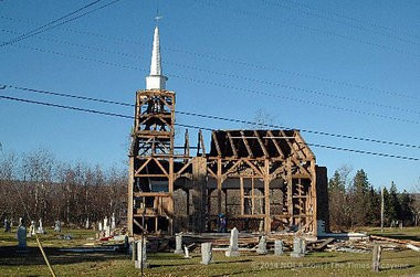 The 200-year-old All Saints Anglican Church, shown here several years ago in Nova Scotia ,was dismantled and trucked to Abita Springs, where it is being resurrected as a Baptist church. Photo by Ryan Scranton