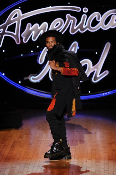 New Orleans' Quentin Alexander performs during the Hollywood round of 'American Idol.'
