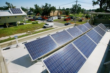 Solar panels in New Orleans on Tuesday, September 14, 2010. (Photo by Rusty Costanza, NOLA.com | The Times-Picayune)