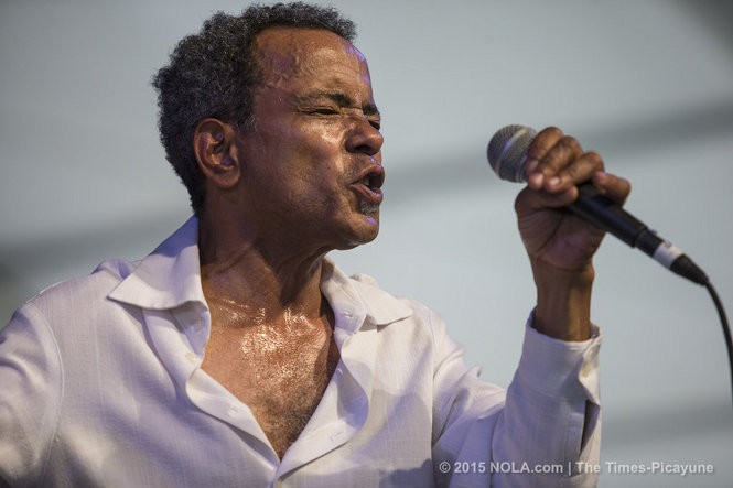 John Boutte plays in the Zatarains/WWOZ Jazz Tent on Sunday, May 3, 2015 at the New Orleans Jazz & Heritage Festival. (Photo by Chris Granger, NOLA.com | The Times-Picayune)