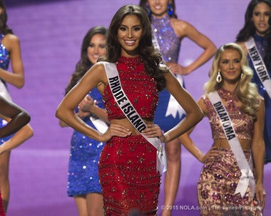 Miss Rhode Island USA Anea Garcia is named to the top 15 at the Miss USA pageant held at the Baton Rouge River Center on Sunday, July 12, 2015. (Photo by Brianna Paciorka, NOLA.com | The Times-Picayune)