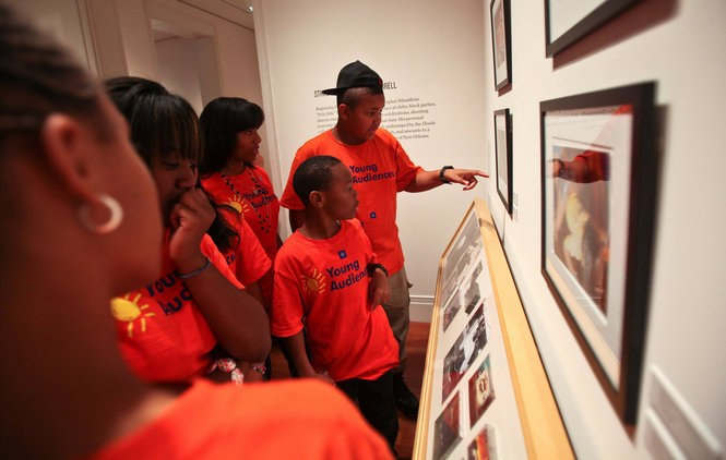 KERRY MALONEY / THE TIMES-PICAYUNE Students from Young Audience summer camp tour the Ogden Museum of art before they perform their own music. Where They At, was an interactive exhibit at the Ogden Museum of Southern Art, on display in 2010 about the Hip-Hop and Bounce culture in New Orleans.