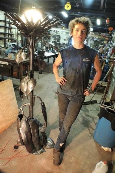 Rachel David, 21st century New Orleans blacksmith (Photo by Doug MacCash / NOLA.com | The Times-Picayune)