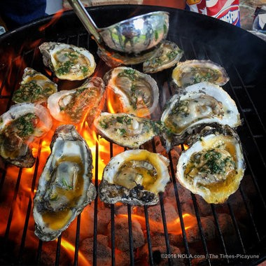 Classic grilled oysters. (Photo by David Grunfeld, NOLA.com | The Times-Picayune)