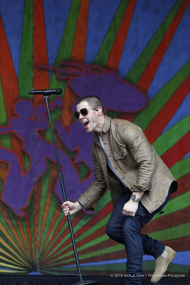 Nick Jonas performs on the Gentilly Stage at the New Orleans Jazz Fest on Sunday, April 24, 2016. (Photo by Chris Granger, NOLA.com   The Times-Picayune)