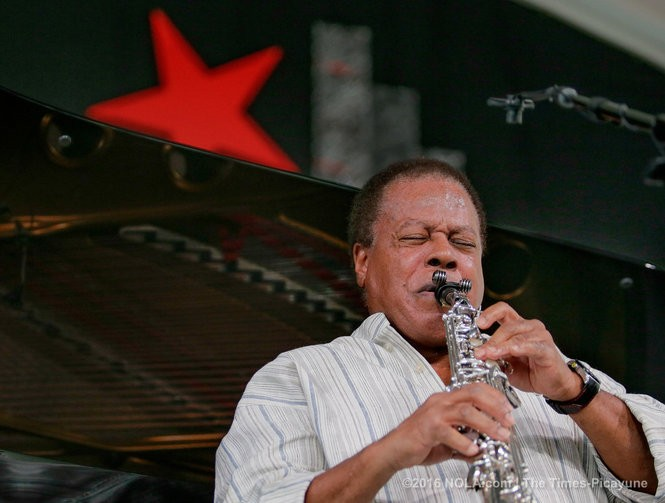 Wayne Shorter performs in the Zatarain's / WWOZ Jazz Tent during the third day of the New Orleans Jazz Fest at the Fair Grounds Saturday, April 24, 2016. (Photo by David Grunfeld, NOLA.com | The Times-Picayune)