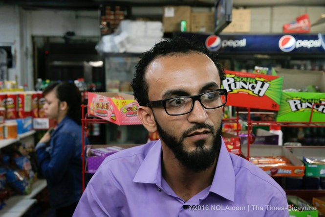 Abdullah Muflaha, owner the Triple S Food Mart at his store Monday July 11, 2016, where Alton Sherling was fatally shoot by Baton Rouge police, says he was detained by police for hours while the police seized security footage of the incident, according to a lawsuit filed Monday. (Photo by David Grunfeld, NOLA.com | The Times-Picayune)