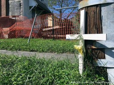 The scene near were Chris Olmsted was shot to death NOPD. (Photo by David Grunfeld, NOLA.com   The Times-Picayune)
