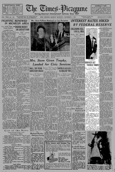 When longtime New Orleans coach Tad Gormley died in 1965, it was front-page news in The Times-Picayune. (File image)
