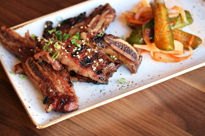 The menu at Meril, Emeril's fourth New Orleans restaurant, includes Korean-style ribs. (Photo by Todd A. Price, NOLA.com | The Times-Picayune)
