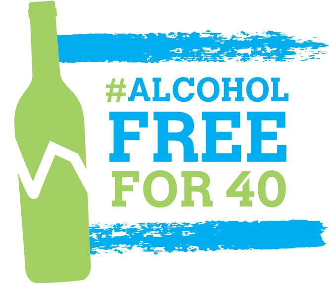 The #AlcoholFreeFor40 challenge is simple: Give up alcohol for the entire season of Lent, including Sundays. Anyone, however, can do their own challenge at any time.