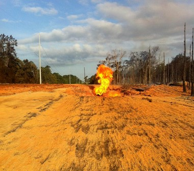 A natural gas pipeline exploded Tuesday, June 18, 2013, in Washington Parish.