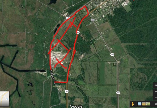 Officials evacuated 60 homes within a couple of miles of the Phillips 66 pipeline in Paradis as officials let the fire burn off. The areas marked in red are evacuation zones, according to St. Charles Parish. (Image via St. Charles Parish)
