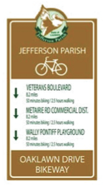 The plan proposes unified signage to guide cyclists.