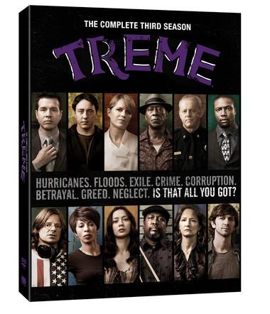 The 'Treme' season 3 DVD box cover.