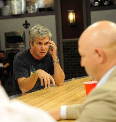 Magical Elves co-founder Dan Cutforth at the judges' table on the 'Top Chef: New Orleans' kitchen set.