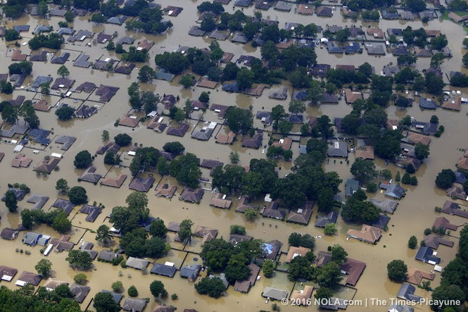 Aerials of flooding in Baton Rouge, La. following record-breaking rainfall and flooding August 14, 2016. (Photos by G. Andrew Boyd, NOLA.com | The Times-Picayune)
