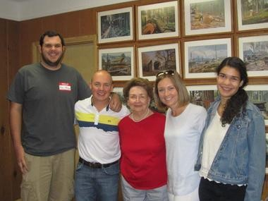 Members of the N.B. Giustina Family Foundation span three generations. Pictured at the Foundation's annual board meeting in August are Brandon Newlove, Mark Giustina, Jackie Giustina, Kate Giustina Hudson and Justina Goldbeck. Board members not pictured are Natalie Newlove, Larry Giustina, Irene Goldbeck and Marissa Giustina.