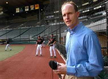 Rich Burk, seen here before a 2004 Portland Beavers baseball game, was named the first announcer for the Hillsboro Hops.