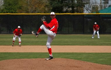 Pacific starting pitcher Matt Delegato helped the Boxers complete a three-game sweep of Whitworth with a complete-game victory Sunday at Chuck Bafaro Stadium.