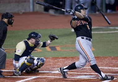 Michael Conforto led the Pac-12 in on-base percentage (.457) and was second in slugging (.512).