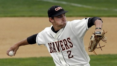 Can Ben Wetzler follow in the footsteps of Dallas Buck (pictured), another Oregon native who led the Beavers to Omaha? It's part of what brought him to Corvallis.