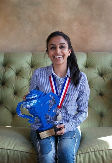 Naomi Shah chose Stanford University with plans to major in engineering. She hasn't narrowed her choice of engineering, yet. She wants whatever she chooses to help her benefit others.