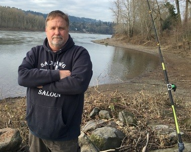 Pete Tracy of Gladstone is leading angler opposition to a Port of Portland/City of Gladstone project that could end their access to a traditional and popular gathering spot for bank fishing in Meldrum Park.