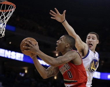 Playing his first NBA game in his hometown of Oakland, Damian Lillard scored 37 points, 29 of them in the second half, in a losing effort against Golden State in January.