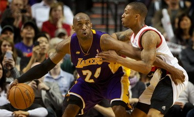 On the same night Lillard scored a career-high 38 points, Kobe Bryant finished with 47 in the Lakers' win.