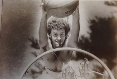 Tom Hallman Jr. 1975, playing ball.