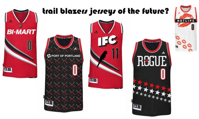 newest collection 2e0aa 14d85 The future of NBA advertising: What would Portland Trail ...