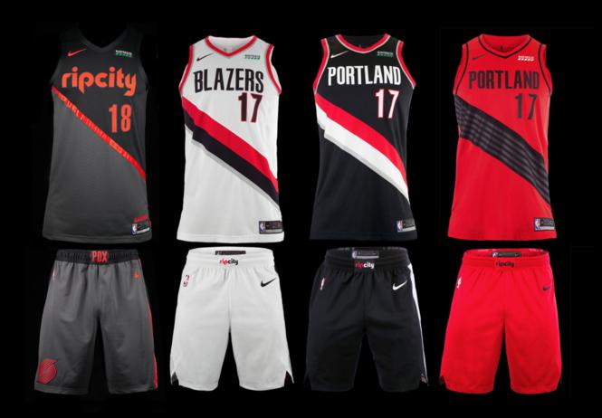 reputable site 09376 9a620 Portland Trail Blazers unveil new Rip City uniform ...