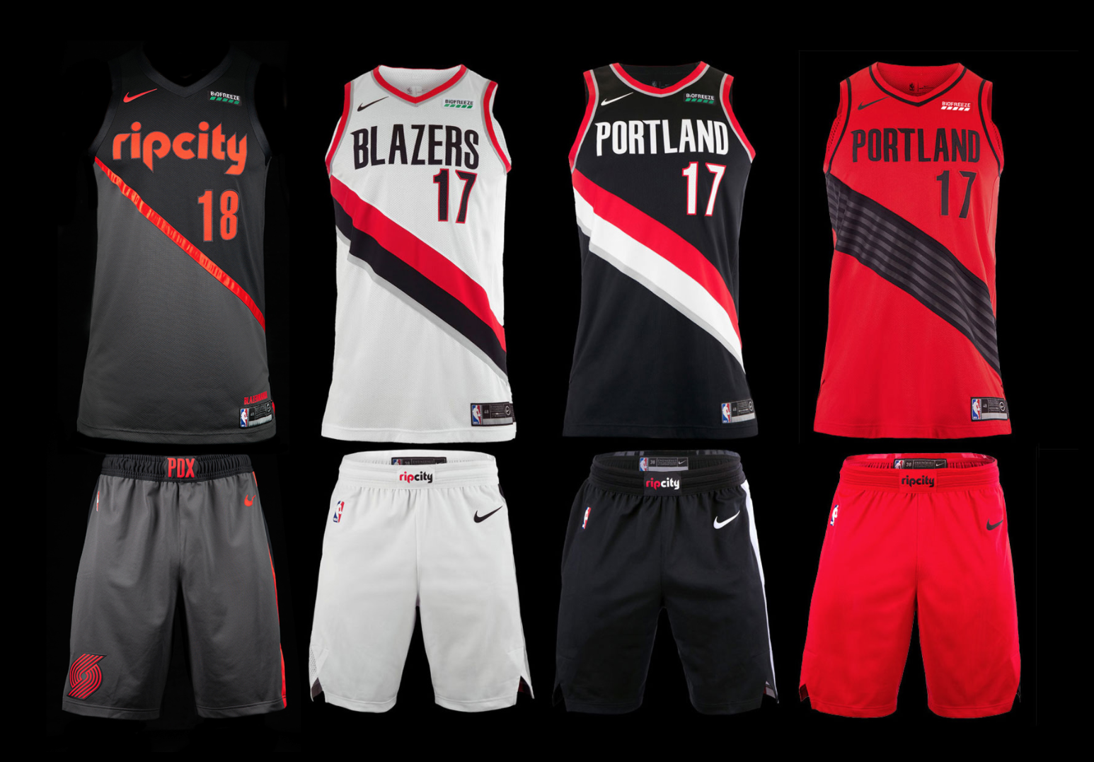 reputable site 277a8 a37c5 Portland Trail Blazers unveil new Rip City uniform ...