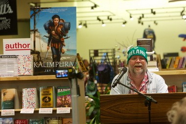 "Jay Lake read from his novel ""Kalimpura"" at Powell's Books at Cedar Hills Crossing in March."