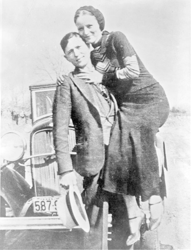 Clyde Barrow and Bonnie Parker were suspected of 13 killings as well as a series of robberies and burglaries when they were killed by law enforcement officers on May 23, 1934.