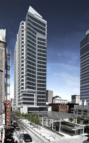 A rendering of the Park Avenue West Tower created by TVA Architects, the firm that designed the planned building.