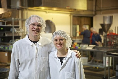 Keith Kullberg, left, and his daughter, Hannah, developed Better Bean's refrigerated dips, side dishes and chili. The company has grown rapidly, and sells its products in 250 stores.