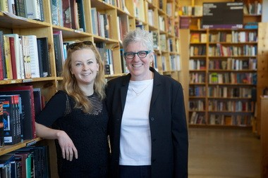 Miriam Sontz, right, replaced Emily Powell as chief executive officer of Powell's Books in 2013. Powell, the third-generation owner of the Portland company, will focus on its long-term strategy.